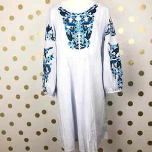 Chelsea & Theodore Embroidered Shift Dress
